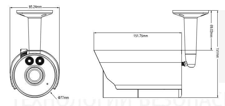 Габаритный чертеж AVM403СHP